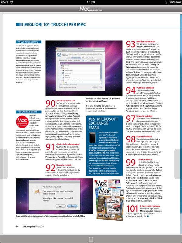 Mac magazine iPad