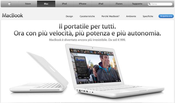 MacBook bianco new