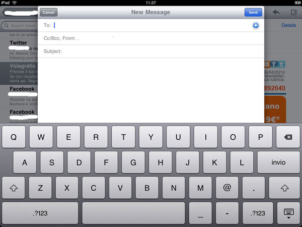 ipad email client