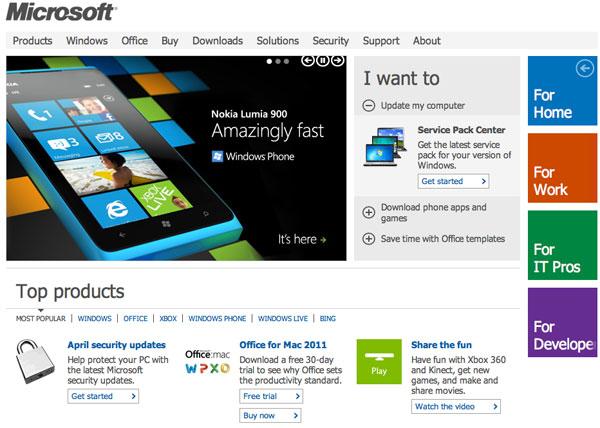 sito Microsoft USA