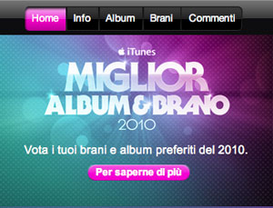 Miglior Album&Brano 2010
