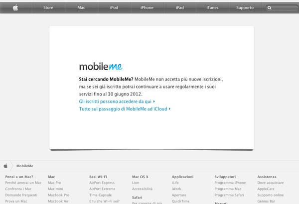 passaggio MobileMe - iCloud