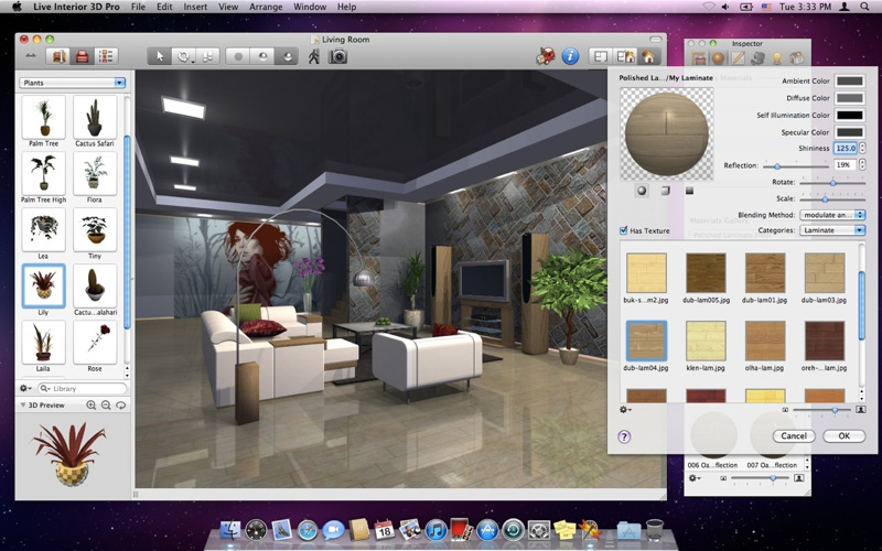 live interior 3d pro: l'arredo di interni in versione super su mac ... - Arredare Casa Free Software
