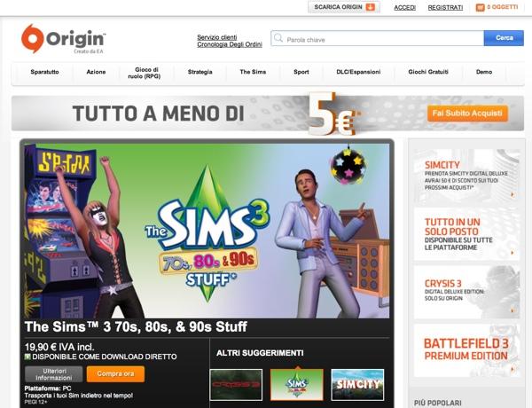 Origin Electronic Arts