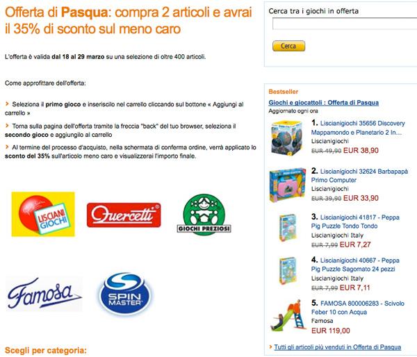 98851dfaf7c3a6 Giochi per Pasqua, su Amazon offerta con sconti del 35% - Macitynet.it
