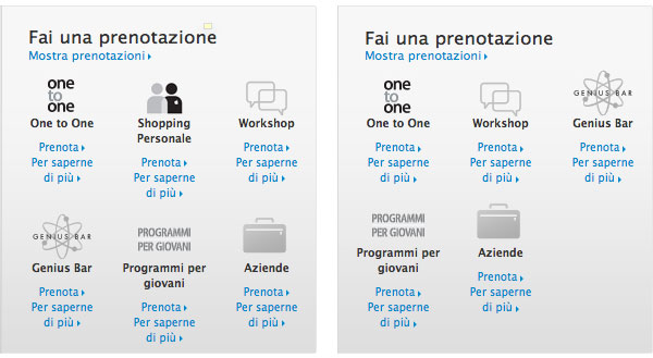 Apple Retail - rimozione Personal Shopping