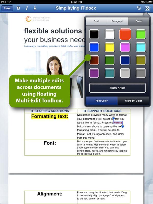 Quickoffice iPad