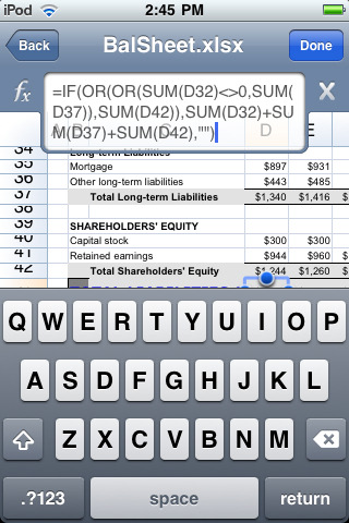 Quickoffice iPhone