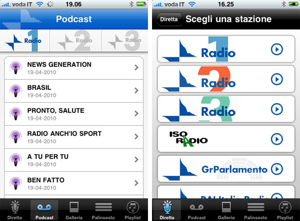 radio rai iphone