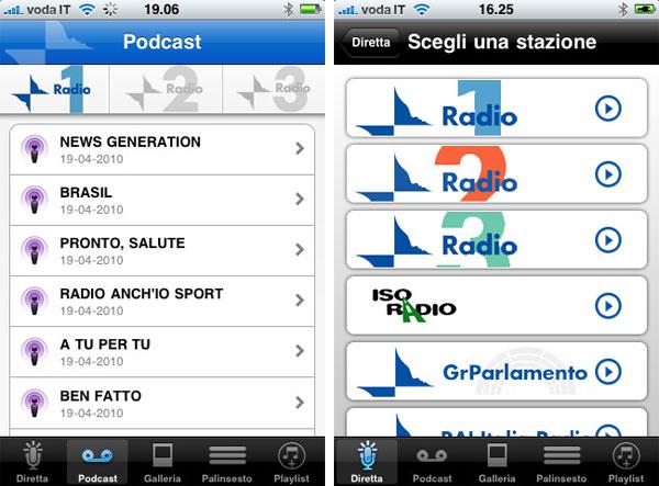 radio rai iphone