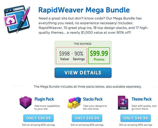 RapidWeaver Mega Bundl