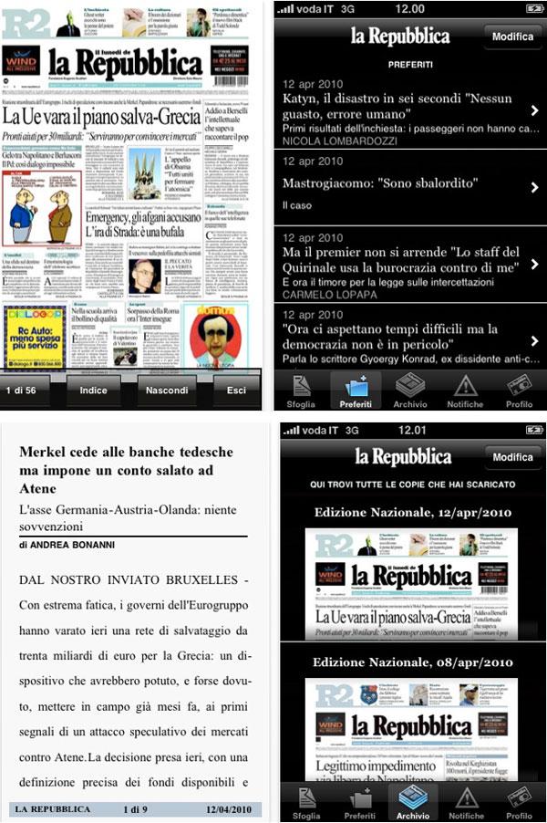 la Repubblica per iPhone e touch