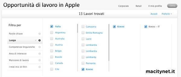 Apple Store Rimini ricerca personale 1