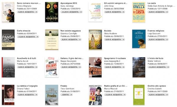 rizzoli e RCS su iBook Store