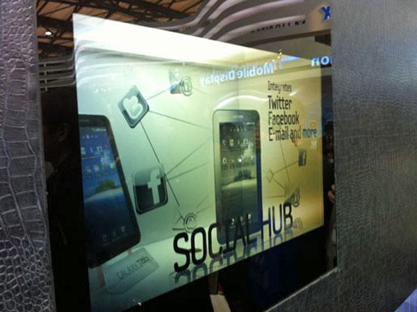 Samsung LCD trasparenti