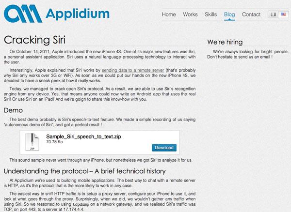Applidium Siri crack