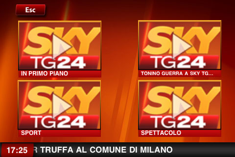 SKY TG24 iphone, touch
