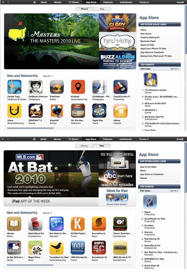 selezione app store per iPad