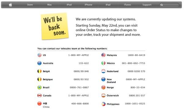 fuori servizio apple store