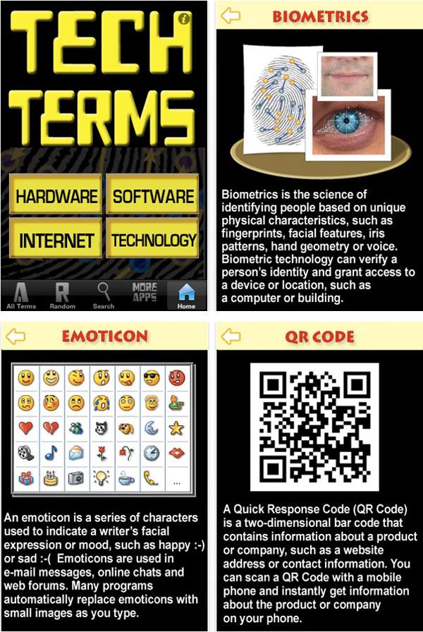 Tech Terms screenshots iphone e touch