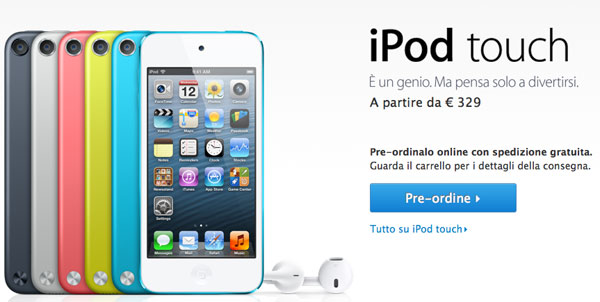 nuovi ipod touch apple store