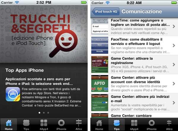 Trucchi&Segreti un App per i nuovi utenti iPhone/iPod Touch