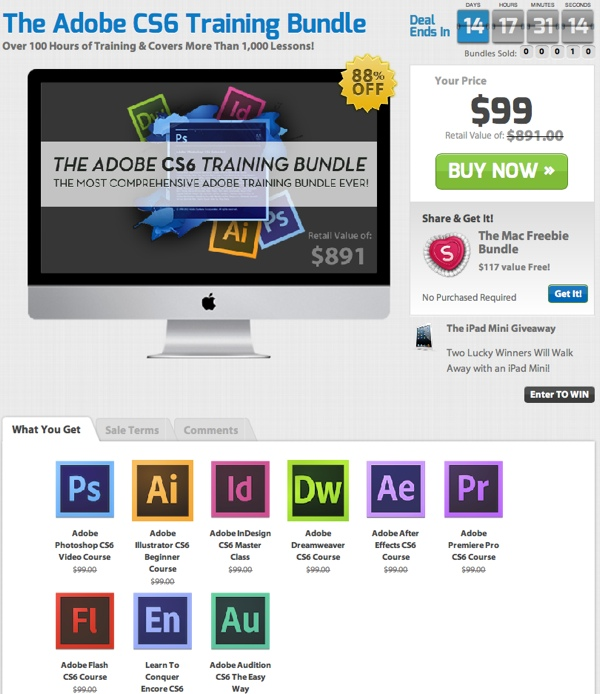 The Adobe CS6 Training Bundle