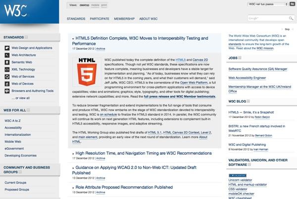 w3c sito web 600