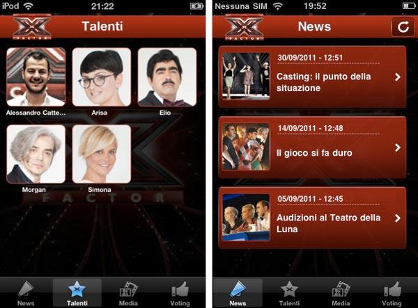 x factor iphone ipad